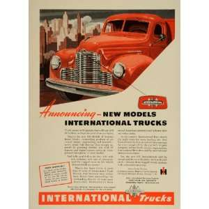 1947 Ad International Harvester Trucks Red Model KB IH