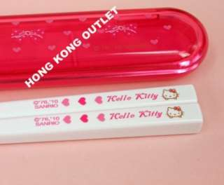 Hello Kitty Chopsticks with Case Box Sanrio B13e