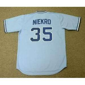 PHIL NIEKRO Atlanta Braves 1982 Majestic Cooperstown Throwback