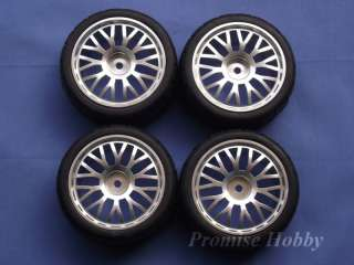10Y spoke alloy wheel & tire for 1/10 Tamiya rc car X4