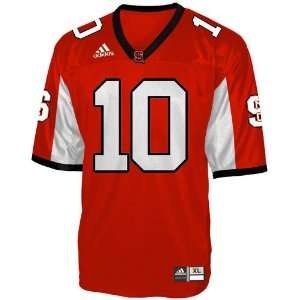 adidas North Carolina State Wolfpack #10 Red Replica Football Jersey