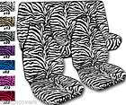 ZEBRA VELOUR SEAT COVERS, for high back buckets (Fits Jeep Wrangler)
