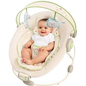 Comfort & Harmony by Bright Starts Cradling Bouncer, Sandstone Gear
