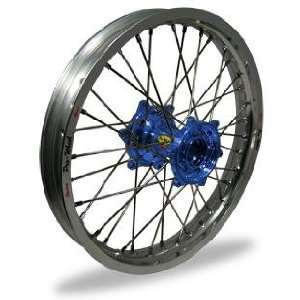 Pro Wheel MX Rear Wheel Set   19x1.85   Silver Rim/Blue Hub 24 51031