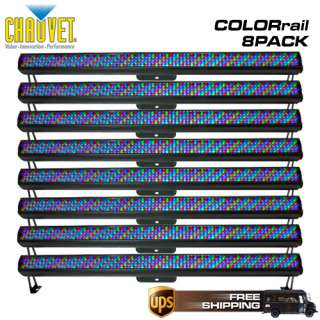 COLORRAIL IRC RGB LED WASH LIGHT 8 PACK COLOR RAIL 781462207304