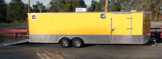 NEW 8.5 X 26 ENCLOSED MOTORCYCLE CAR BIKE HAULER TRAILER