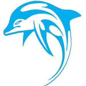Dolphin Car Decal Window Sticker   SKY BLUE Everything