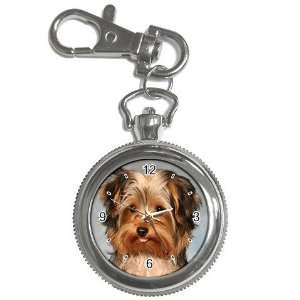 Yorkshire Terrier Puppy Dog 10 Key Chain Pocket Watch