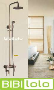 Antique Brass Wall Mounted Rain Shower Faucet Set L5037