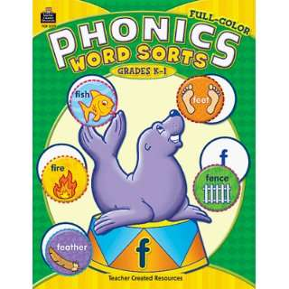 Full Color Phonics Word Sorts K 1 Toys & Games