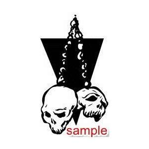 EVIL AND SKULLS SKULLS 19 13 WHITE VINYL DECAL STICKER