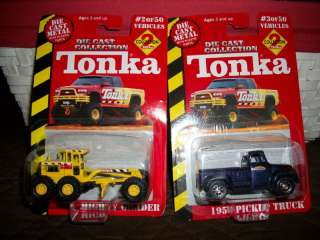 TWO TONKA DIE CAST 2000 #2 MIGHTY GRADER #3 1956 TRUCK