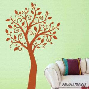 Wall Art Vinyl Decal Sticker Nursery   Wavy Branch Tree