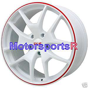 XXR 518 White Red Stripe Rims Wheels 09 10 11 12 Acura TL Tech ZDX MDX