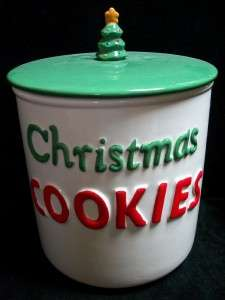 HOLT HOWARD POP UP SANTA CHRISTMAS TREE COOKIE JAR CANISTER PIXIEWARE
