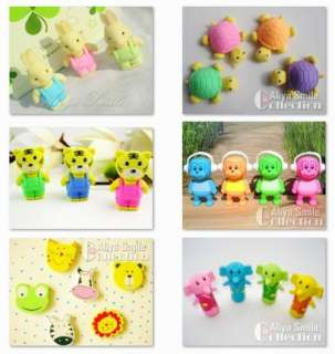 Cute Cartoon Animal Eraser Kids Lovely Party Gifts