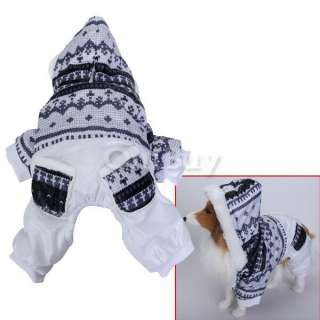 Dog Pet Hoodie Jumpsuit Coat Jacket Apparel w/ two Pockets On Pants L