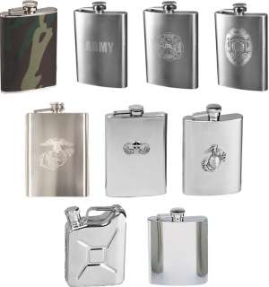 Military Army USMC Stainless Steel Flask