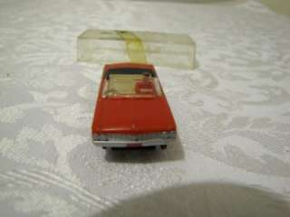 VINTAGE AURORA FORD GALAXIE RED CONVERTABLE VIBRATOR SLOT CAR HO