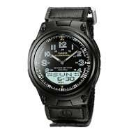 Casio Mens Calendar Day/Date Watch with Round Black Dial and Black