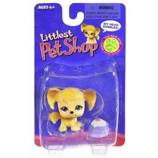 Littlest Pet Shop Cocker Spaniel Dog with Pink Crown