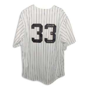 New York Yankees Pinstripe Majestic Jersey Inscribed PG 5 17 9