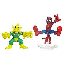 Marvel Super Hero Squad Action Figure 2 Pack   Spider Man and Electro