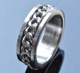 wholesale 200pcs Mens Spin Chain Stainless Steel rings