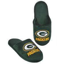 Officially Licensed NFL Green Bay Packers BLING Slippers