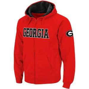 Georgia Bulldogs Red Classic Twill II Full Zip Hoodie