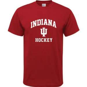 Hoosiers Cardinal Red Youth Hockey Arch T Shirt