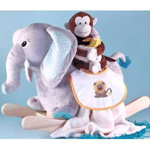 Elephant Rocking Horse Baby Gift Set for Boys Baby