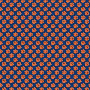 PAW PRINT NAVY BLUE & ORANGE PATTERN Vinyl Decals 3 Sheets