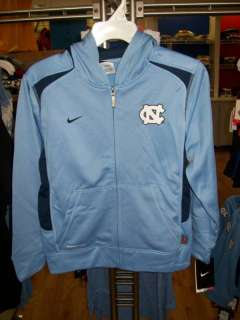 UNC Tar Heels Nike Therma Fit Fleece FZ Hoodie Youth L