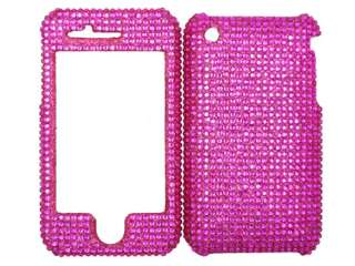 HOT PINK DIAMOND BLING CASE COVER APPLE iPHONE 3G 3GS 3 2 FACEPLATE