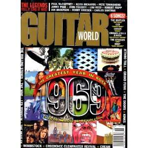 Guitar World Magazine June, 1999.1969, Greatest Year In Rock