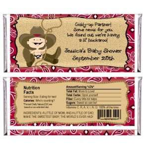 Little Cowboy   Personalized Candy Bar Wrapper Baby Shower