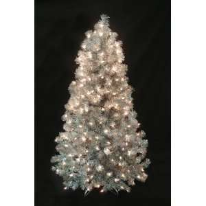 Silver Laser Pine Tinsel Artificial Christmas Tree #50446 AE