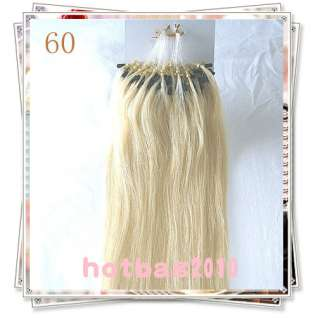 Remy 100S 20 Loop/Micro Rings Real Human Hair Extensions 0.5G/strand