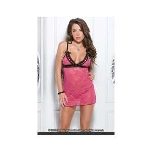 PC. Stretch Lace Chemise With Adjustable Straps Stretch lace chemise