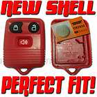 NEW RED FORD KEYLESS REMOTE CASE HOUSING PAD SHELL KEY FOB REPLACEMENT