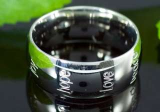 Wisdom Words Magnetic Stainless Steel Love Ring R106