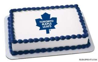 Toronto Maple Leafs Edible Image Icing Cake Topper