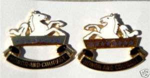 US Army 8th Calvary DI Unit insignia pin set