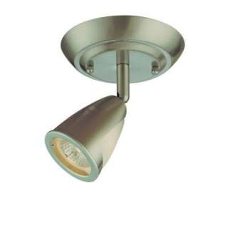 Hampton Bay 1 Light Brushed Steel Ceiling Light Fixture EC9082SBA at