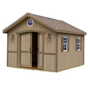 Barns Cambridge 10 ft. x 16 ft. Wood Storage Shed Kit without Floor