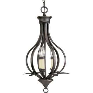 Progress Lighting Trinity Collection Antique Bronze 3 Light Chandelier