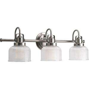 Lighting Archie Collection Antique Nickel 3 light Vanity Fixture