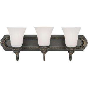 Progress Lighting Huntington Collection Forged Bronze 3 light Vanity