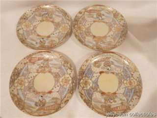 Royal Satsuma Nippon Hand Painted China Cup & Saucer Sets 1940s era